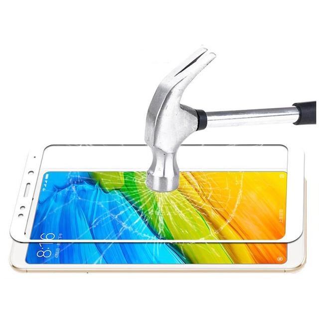For xiaomi redmi 5 glass tempered full cover prime screen protector for xiaomi redmi 5 plus Mobile phone Protective glass film