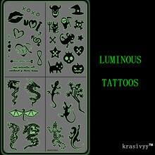 Светящиеся наклейки для татуировок krasivyy ювелирные изделия
