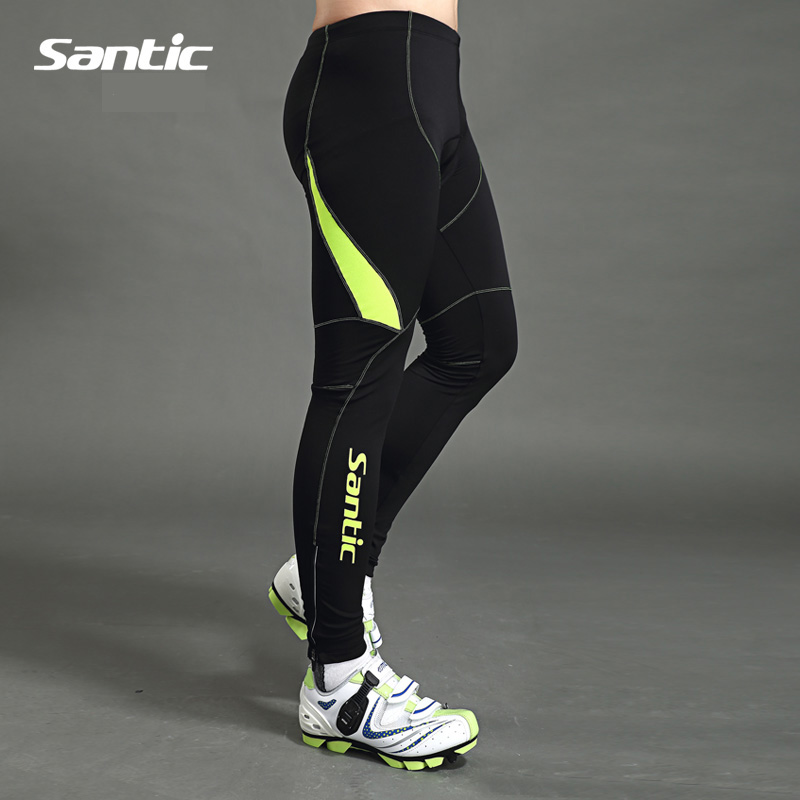 SANTIC Bike Cycling Windproof 3D Pad Pants Full Length Tight Pants Winter Autumn Outdoor Warm Bicycle