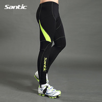 SANTIC Bike Cycling Windproof 3D Pad Pants Full Length Tight Pants Winter Autumn Outdoor Warm Bicycle Riding Trousers MC04027