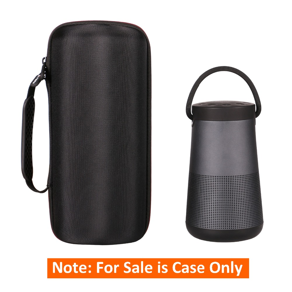 AC Adaptor and USB Cable Protective Carrying Storage Bag Fits Charging Cradle Case for Bose SoundLink Revolve Plus Portable /& Long-Lasting Bluetooth 360 Speaker Box Only