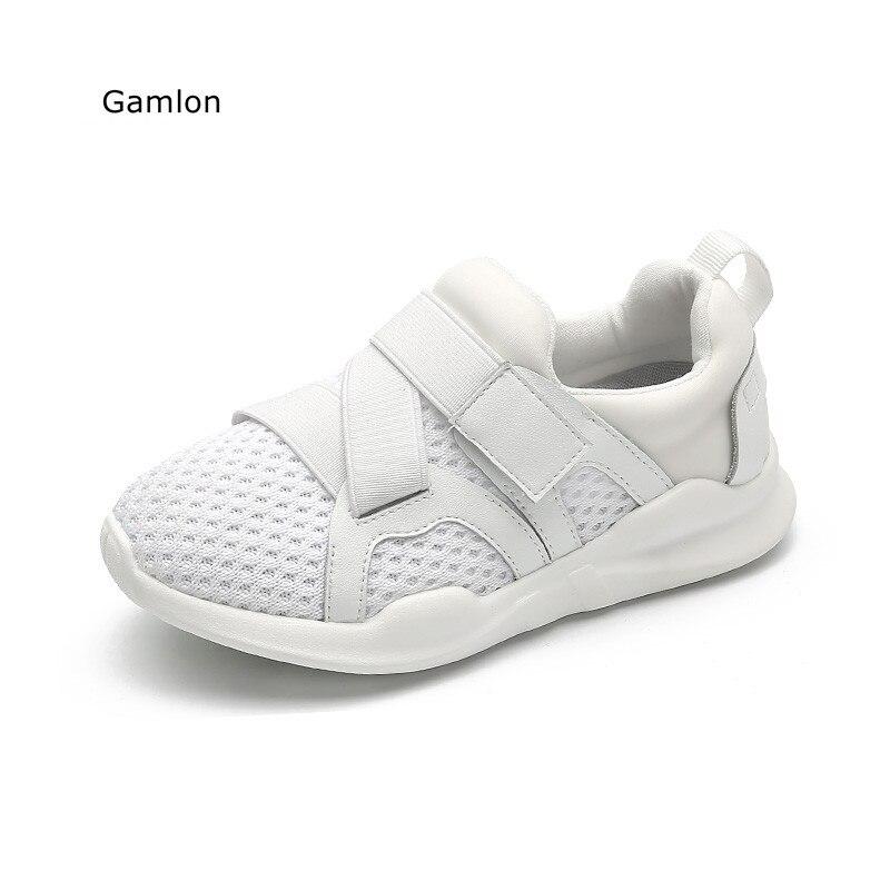 Gamlon zapatos transpirables para niños Otoño 2017 Nueva ola de malla informal para niños Big Kids Net Face Chicas Niños Zapatillas deportivas
