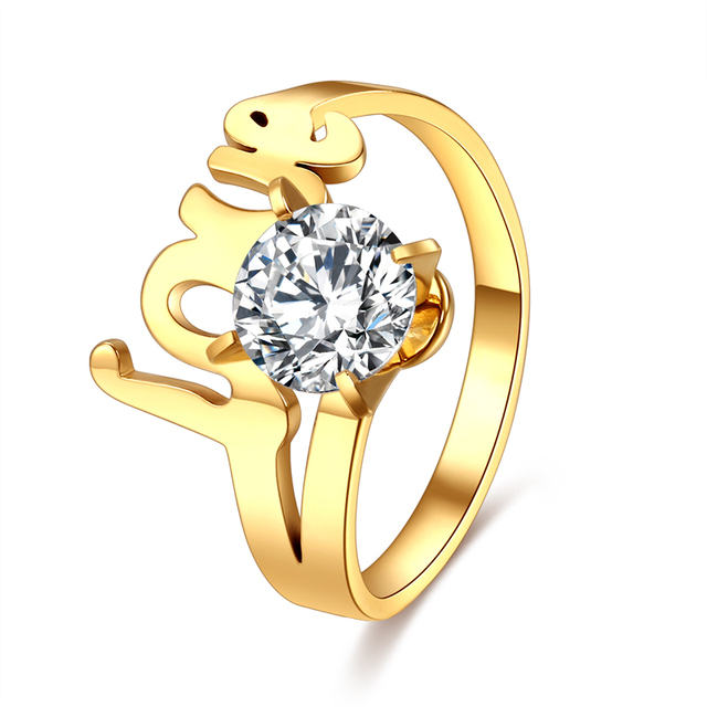 CACANA Promotions Women/Men Wedding Band Ring Gold Color Plated Engagement Ring