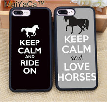 MaiYaCa Keep Calm and Ride On Love Horses Pony Soft TPU Case For iPhone 8 6 6S Plus 7 Plus X XR XS MAX 5S SE Back Cover Shell(China)