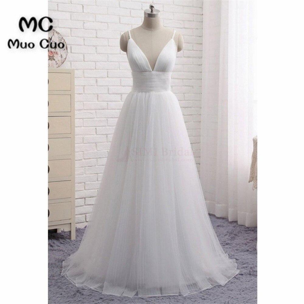 Aliexpress Com Buy Vestido De Noiva 2017 A Line Beach: A Line 2017 Beach Wedding Dresses Vestido De Noiva Deep V