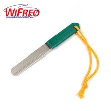 Wifero [ 1 PCS ] Double Faces Diamond Fishing Fly Hone Hook Sharpener Mini Size Tool 120/240 Grit