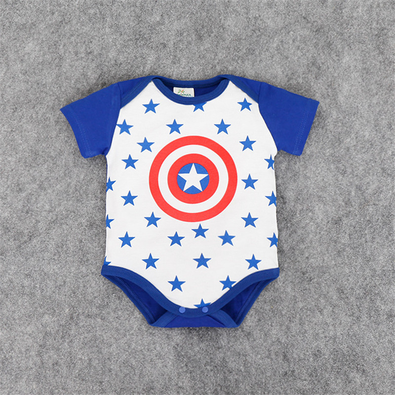 2016 Baby Summer Style Cute Printed Jumpsuits Boy Girl Clothes Infantil font b Romper b font