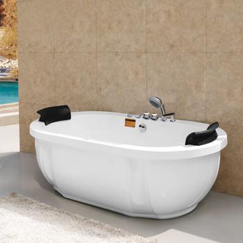 1 8 metr owalne wanna do masażu z prysznicem i kran M-2038A tanie i dobre opinie Wolnostojące Akrylowe W zestawie Combo masaż (air whirlpool) Rogu WHITE CE ISO9001 CQC RoHS ETL Reach ISO9001 SAA