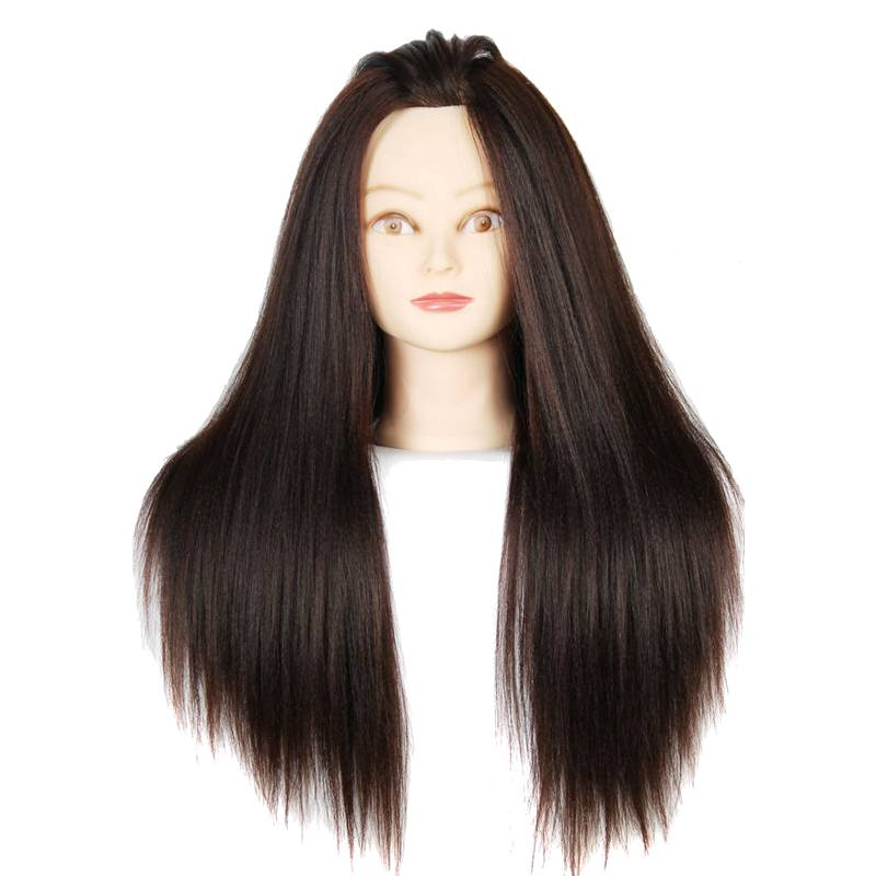 Mannequin Head With Hair Brown Color Dummy Mannequins For Sale Makeup Training Hairdressers