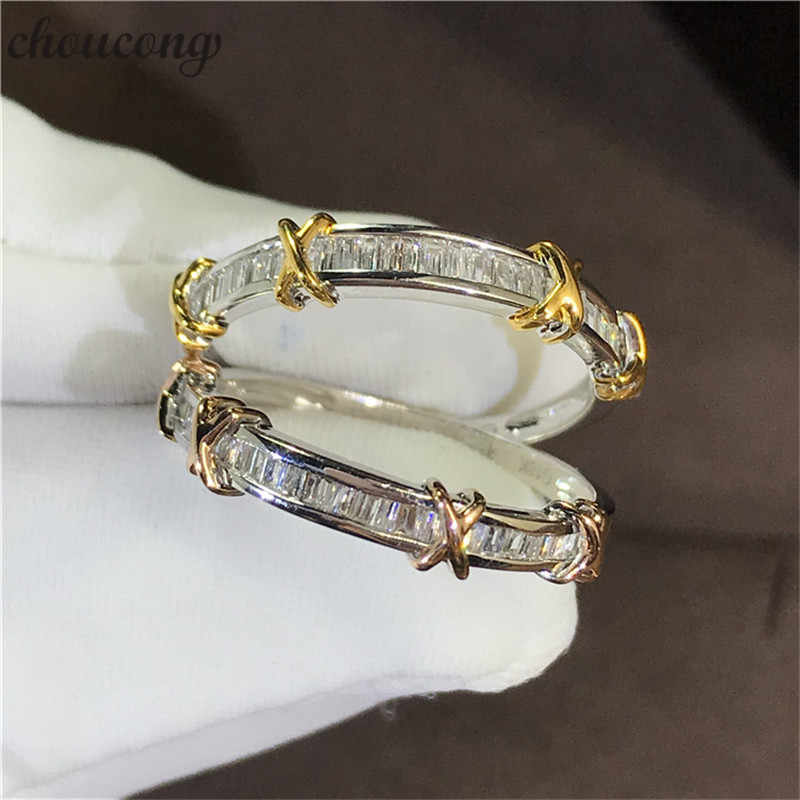 Choucong 約束全体指リング 100% リアル 925 スターリングシルバー aaaaa cz 婚約結婚指輪指輪女性のためのファインジュエリー