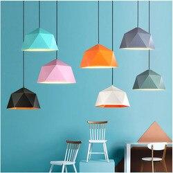 Pendant lights Colorful Nordic hanging nordic lamp vintage lamp loft decor design modern dining room kitchen light fixture led