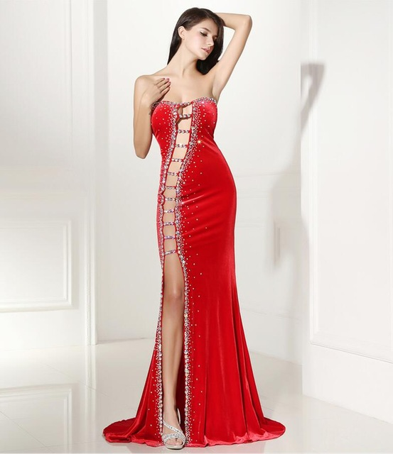 Forevergracedress Sexy Prom Dress New Arrival Beaded Crystals Long