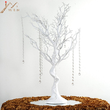 """3"""" Manzanita искусственное дерево белый центральный вечерние дорога свинцовый стол Свадебные украшения+ 20 кристалл цепи"""