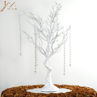 30 Manzanita Artificial Tree White Centerpiece Party Road Lead Table Top Wedding Decoration +20 crystal Chains