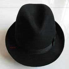 Special Felt Hat Men Fedora Hats with Belt Women Vintage Tri