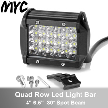 4Inch 7Inch Quad Row Spot Beam Led Work Light Bar For Car Motorcycle Tractor Boat Off Road 4WD 4x4 Truck SUV ATV Led Headlights цена и фото
