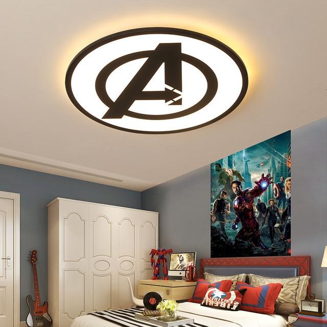 Modernas luzes de teto led para quarto estudo sala crianças rom casa deco preto/azul lâmpada do teto
