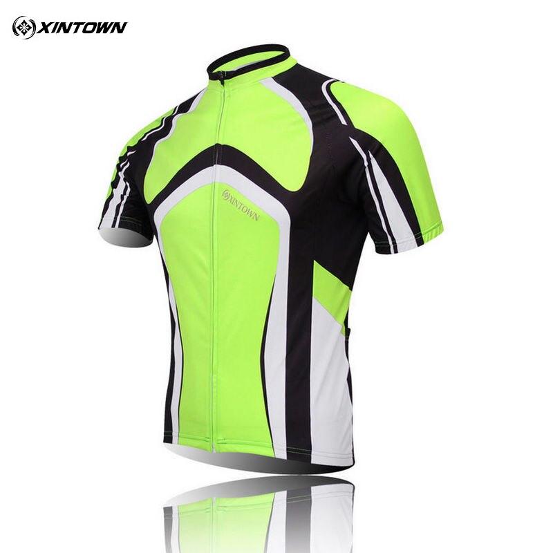 XINTOWN Team Men Green Prodyšný Outdoorový Krátký rukáv Sportovní oblečení MTB Cyklistický dres S-4XL