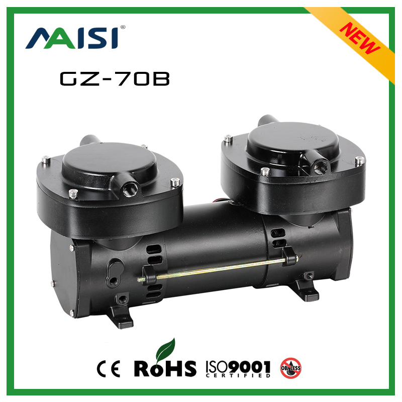 (GZ-70B) 12V/24V (DC) 136L/MIN 160W Mini Diaphragm Vacuum Pump mini air compressor 2.5 Bar Pressure small Electric Air Pump 3l m electric brushless motor diaphragm dc air compressor 24v