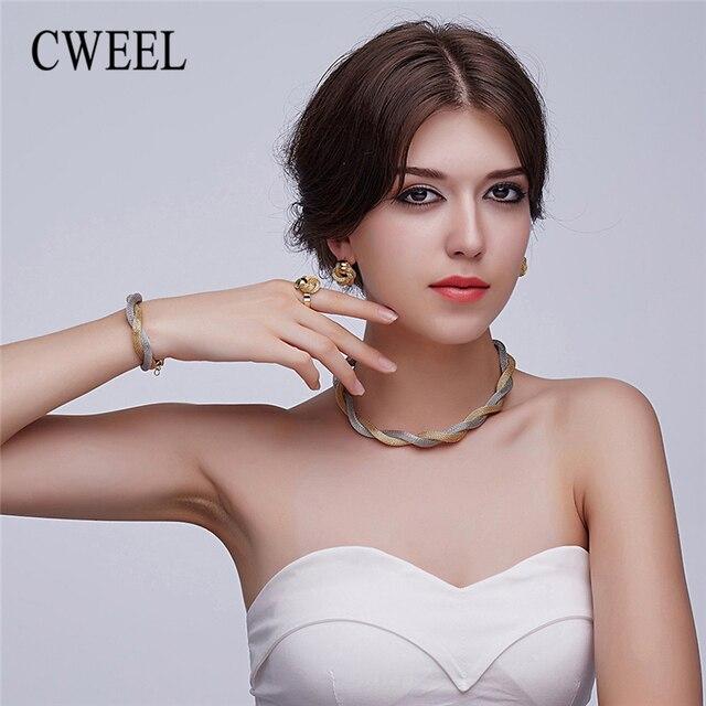 Ensemble de bijoux CWEEL  collier bracelet bague 1
