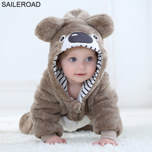 64520a836f SAILEROAD Cartoon Sloth Pajamas with a zipper for a Child Winter Newborn  Sleeping Gown Baby Clothing