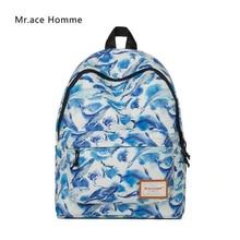 Mr. ace homme новый рюкзак женщины сумку Лидер продаж мультфильм печатных школьников сумки для девушек Туристические сумки для ноутбуков Mochila