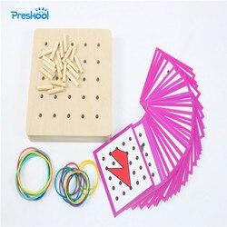Baby Spielzeug Montessori Kreative Graphics Gummi Krawatte Nagel Boards mit Karten Kindheit Bildung Vorschule Kinder Brinquedos Juguetes