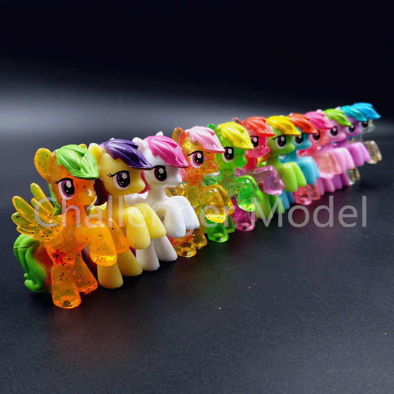 6 Pcs/set 3-5cm Cute Pvc Horse Action Figures Toy Doll Earth Ponies Unicorn Pegasus Alicorn Bat Pony Figure Dolls For Girl