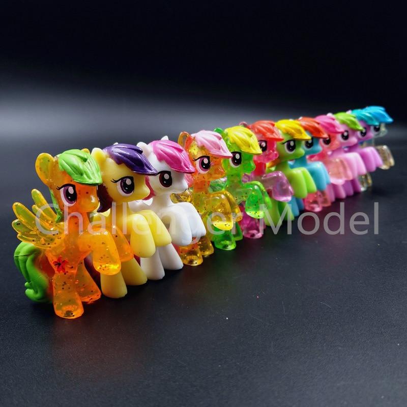6 Pcs/set 3-5cm Cute PVC Unicorn Pony Princess Action Figures Toy Doll Earth Ponies Pegasus Alicorn Bat Figure Dolls For Girl