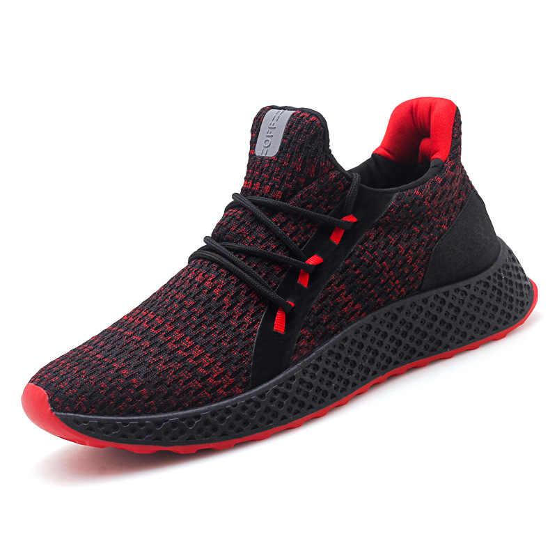2019 Moda hombre Zapatillas Tenis verano transpirable calzado masculino zapatos de malla para hombres con cordones zapatos casuales para caminar 8190 al aire libre