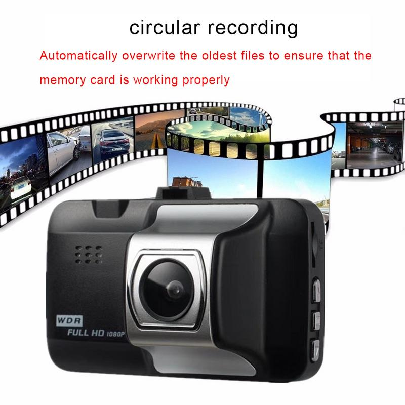 Image 4 - Автомобильный видеорегистратор 1080P дюймов Автомобильная hd камера видеорегистратор 140 широкоугольный Автомобильный видеорегистратор для автомобиля g сенсор
