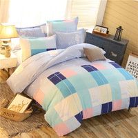 4pcs Bedding Set Star Color Stripe High Quality Bedding Sets Modern Style Polyester Bed Sheet Pillowcase