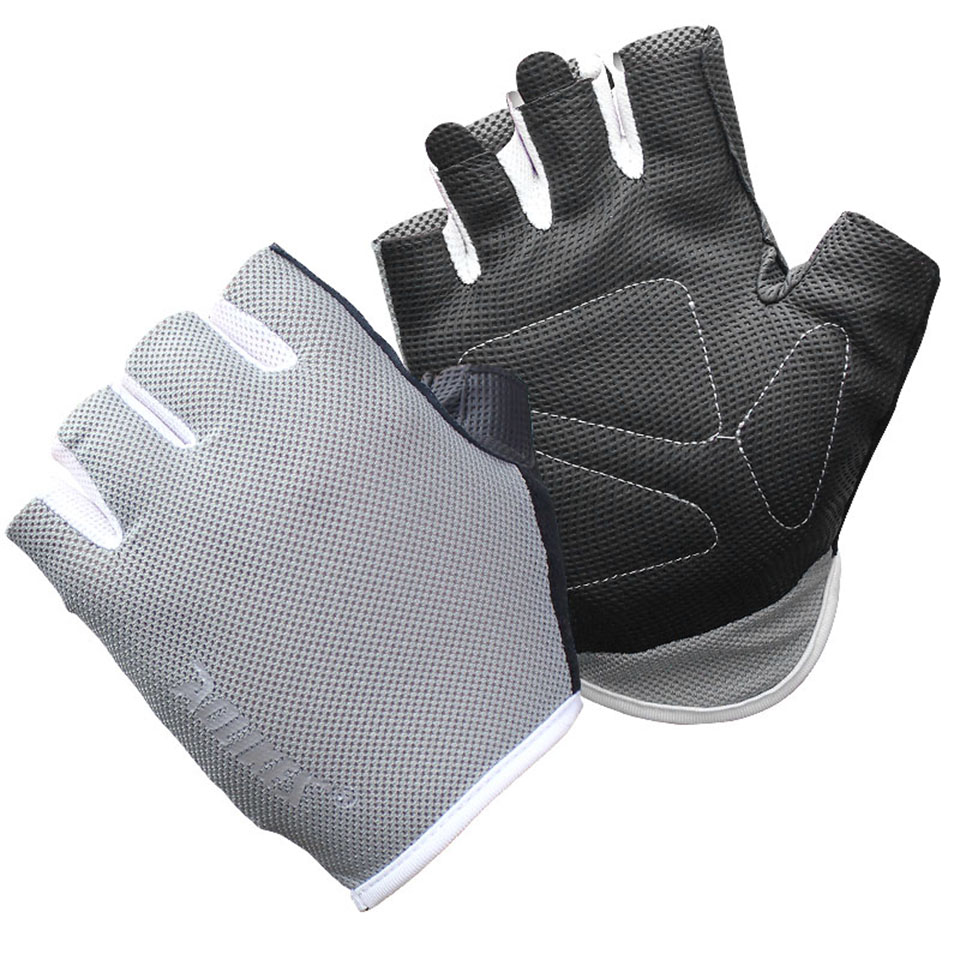 Dam Weight Lifting Gym Gloves Body Building Workout White: 1 Pair Women/Men Anti-skid Breathable Gym Gloves Body