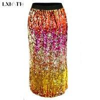 2fc2dbad1 Nueva falda de mezclilla verano moda para mujer con apliques flores  lentejuelas agujeros faldas vaquero niñas estudiantes tirantes