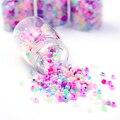 Recién 350 unids / botella de Color caramelo perla perforada clavos del arte del clavo de colores DIY 3D decoración del arte del clavo
