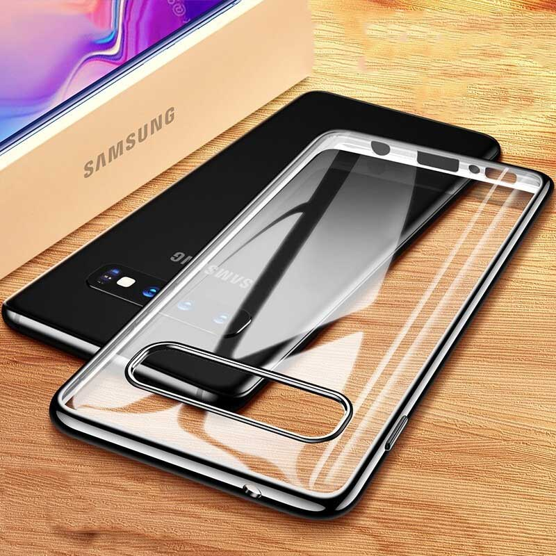Case For Samsung Galaxy S10 Case Soft Plating TPU Silicon Luxury Transparent Cover For Samsung Galaxy S10 Plus S10e S10+