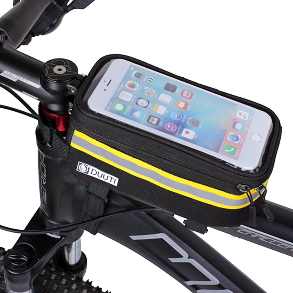 Waterproof Bicycle Frame Bag Bicycle Mobile Phone Holder Perfect For Navi DHL