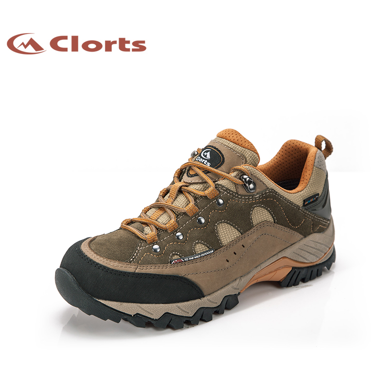 2018 Clorts Mens Walking Shoes Waterproof Outdoor Shoes Climbing Travel Sports Shoes Nubuck For Men Free Shipping HKL-815A/B 2017 clorts mens outdoor walking shoes breathable lightweight sports shoes cow suede for men blue brown free shipping 3g020a d
