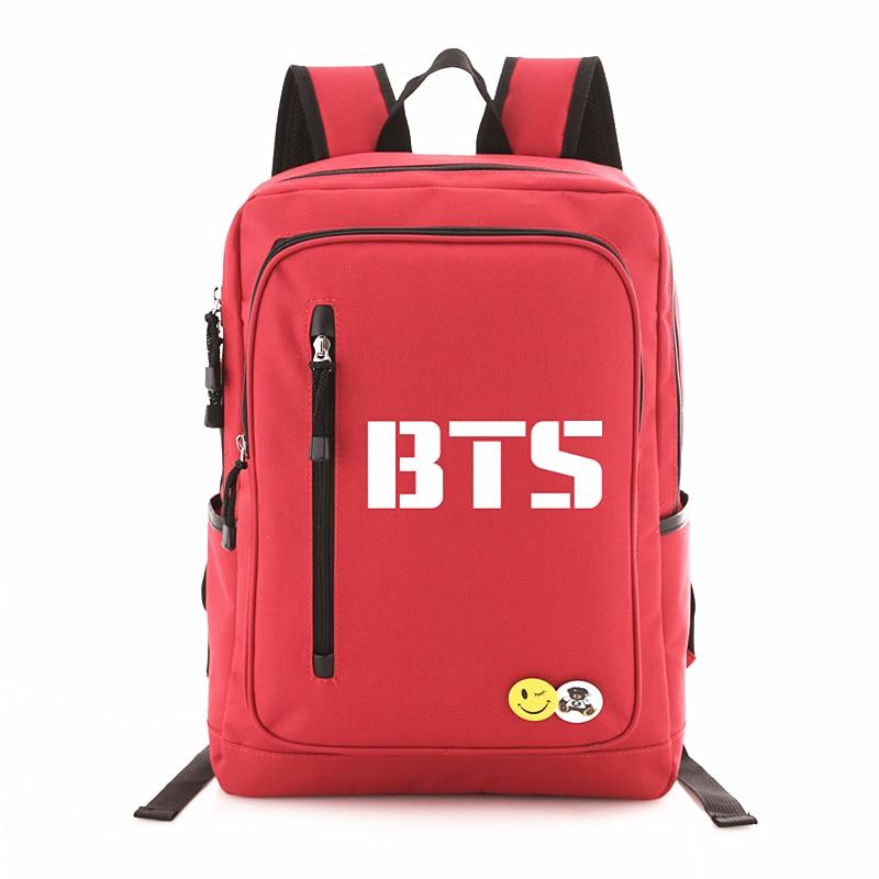 2018 New Kpop BTS Bangtan Boys Logo Door BTS Letter Backpack Rucksacks Student Schoolbag Backpacks Mochila Fans Collection bigbang 2016 welcoming collection release date 2016 03 02 kpop album