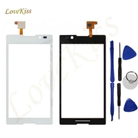 Touch Screen Panel Sensor For Sony Xperia C S39H S39 C2304 C2305 White Black Digitizer Touch
