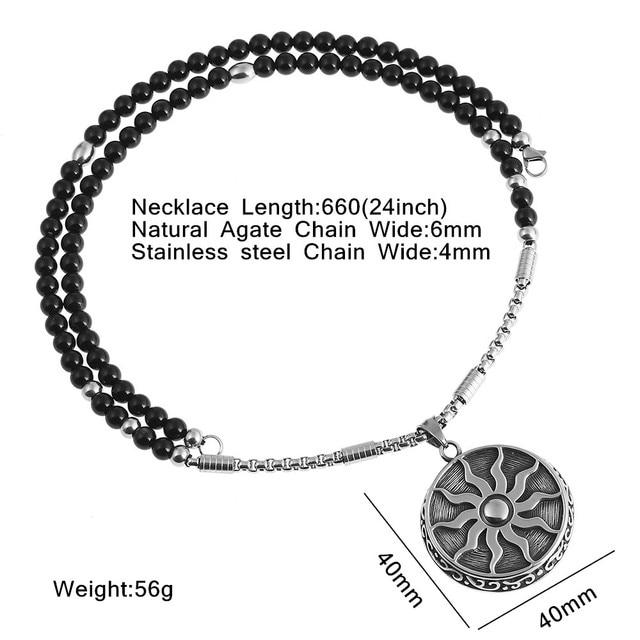 Купить ожерелье с подвеской «солнце бог» из нержавеющей стали