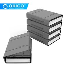 ORICO 3.5 inch Hard Drive Protective Box Portable External HDD Pouch With Waterproof Function For WD Seagate HDD Case-5PCS Grey(China)
