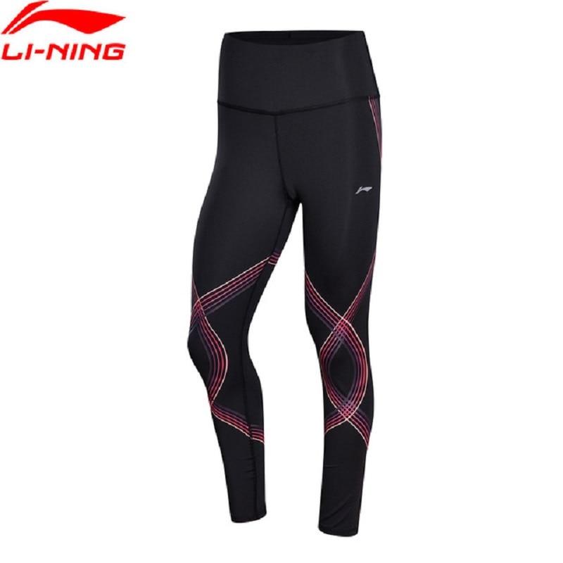 Li-Ning 2018 Women Performance Base Layer Tight Fit 73% Polyester 27% Spandex Breathable Comfort Li Ning Sports Pants AULN078 li ning women training sweat pants loose fit polyester spandex comfort lining sports pants akln016 wky155