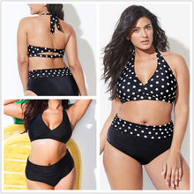 plus size swimwear printed striped bikini Bathing Suits Swimwear Beach Dress biquini swimming suit tankinis women 2019