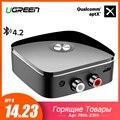 Ugreen Bluetooth RCA Receiver 4.2 aptX 3.5mm Jack Aux Audio Wireless Adapter Music for Headphone Car 2RCA Bluetooth Receiver 3.5