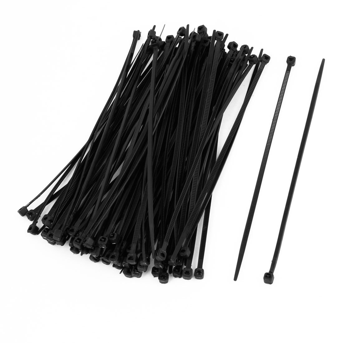 LIXF HOT 100 Pcs 150mm x 2mm Electrical Cable Tie Wrap Nylon Fastening Black