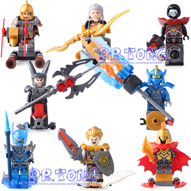 DR.TONG 80pcs/lot Sy679 King of Glory One of China Romance of the Three Kingdoms Anime Building Blocks Figures Heroes Toys 60 volumes china comic strip books romance of the three kingdoms chinese ed