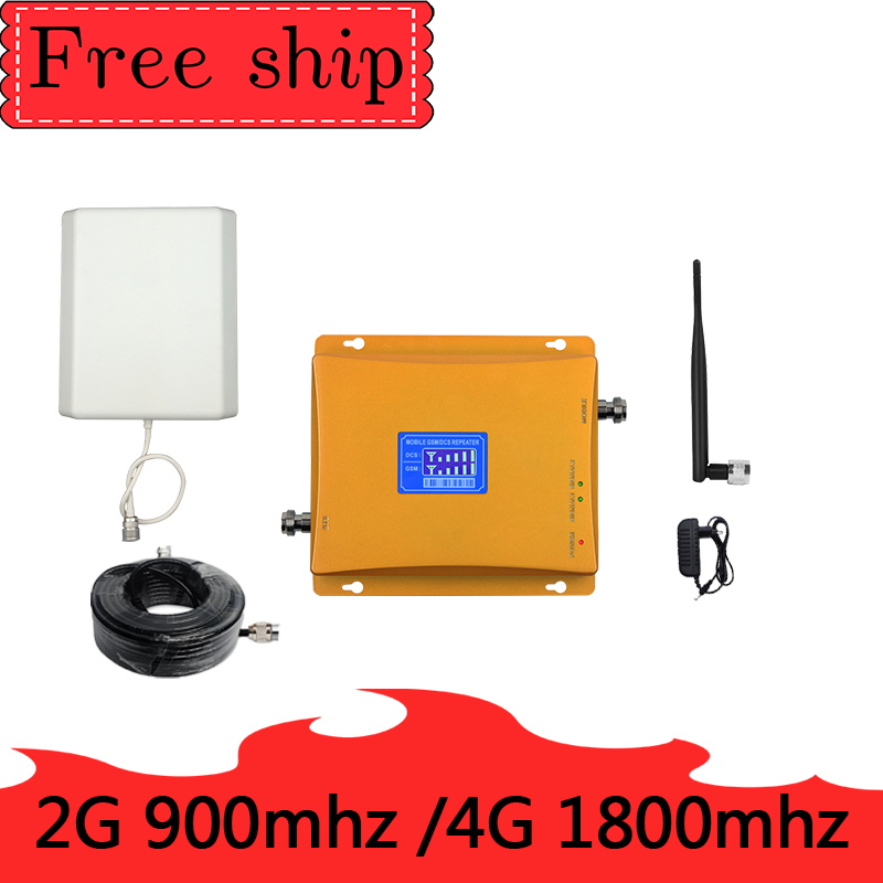 900mhz GSM  DCS LTE 1800mhz  Mobile Phone Signal Booster 70dB Gain  2G 4G Cellphone Cellular Amplifie Dual Band Repeater900mhz GSM  DCS LTE 1800mhz  Mobile Phone Signal Booster 70dB Gain  2G 4G Cellphone Cellular Amplifie Dual Band Repeater