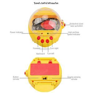 Image 5 - Mini reloj de detección de gravedad coche de carreras de Control remoto 2,4G RC recargable coches de dibujos animados de juguete regalos para niños