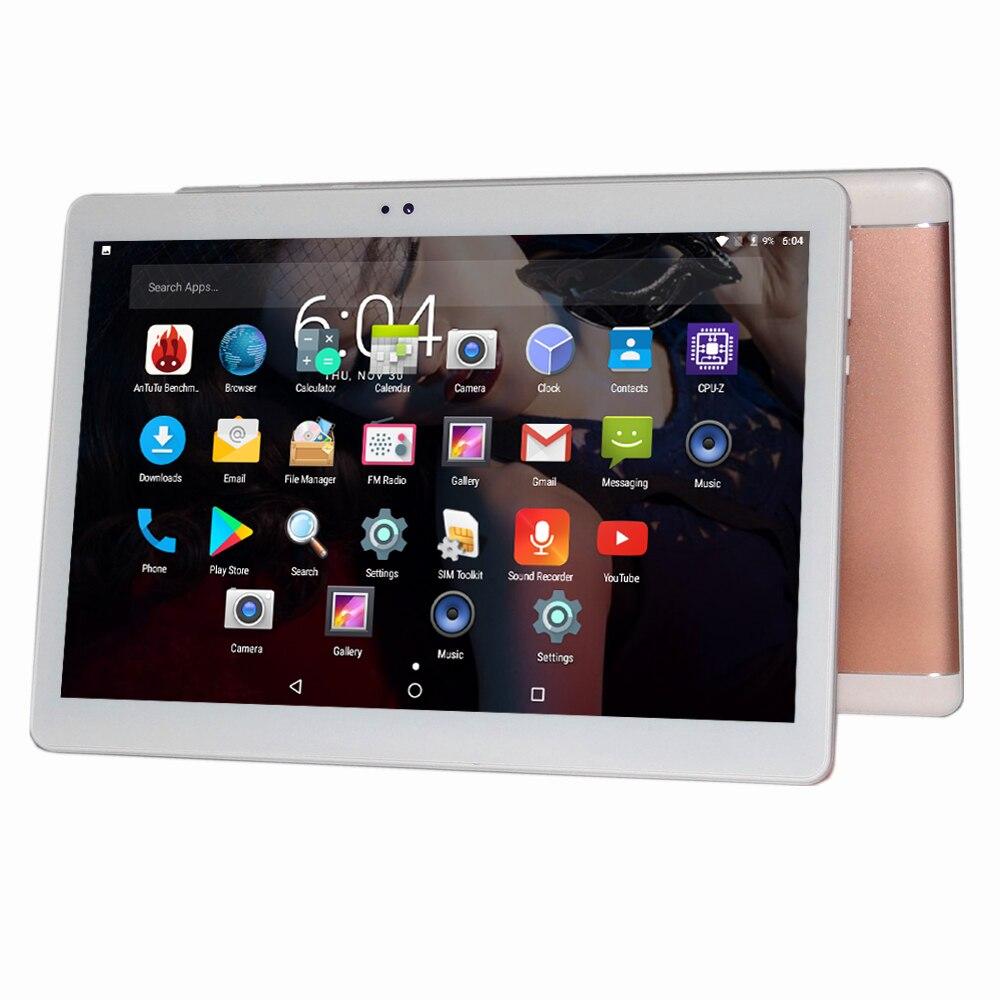 Livraison gratuite Android 7.0 10.1 pouce MTK Tablet PC 3G 4G LTE double carte ordinateur huit de base face 4 GB mémoire 64 GB Tablet Wifi GPS